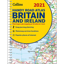 2021 Collins Handy Road Atlas Britain by Collins Maps, 9780008374396
