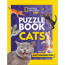 Puzzle Book Cats: Brain-tickling quizzes, sudokus, crosswords and wordsearches by National Geographic Kids, 9780008430481
