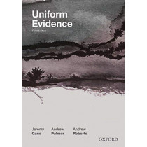 Uniform Evidence by Jeremy Gans, 9780190313722