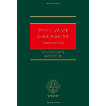 The Law of Assignment by Marcus Smith, 9780198748434