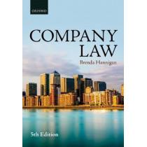 Company Law by Brenda Hannigan, 9780198787709