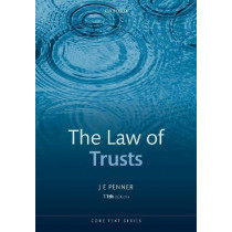 The Law of Trusts by JE Penner, 9780198795827