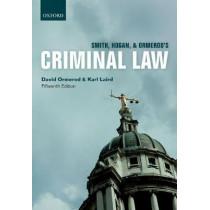 Smith, Hogan, & Ormerod's Criminal Law by David Ormerod, 9780198807094