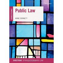Public Law Directions by Anne Dennett, 9780198807315