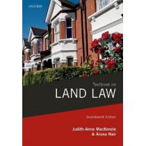 Textbook on Land Law by Judith-Anne MacKenzie, 9780198809586