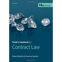 Poole's Casebook on Contract Law by Robert Merkin QC, 9780198817864