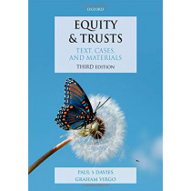 Equity & Trusts: Text, Cases, and Materials by Paul S. Davies, 9780198821830