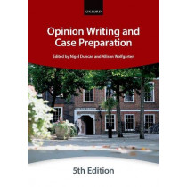 Opinion Writing and Case Preparation by The City Law School, 9780198823162