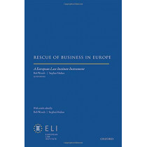 Rescue of Business in Europe by European Law Institute, 9780198826521