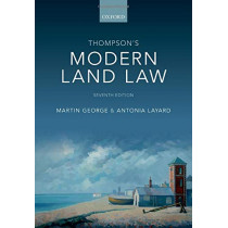 Thompson's Modern Land Law by Martin George, 9780198828020