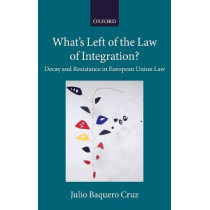 What's Left of the Law of Integration?: Decay and Resistance in European Union Law by Julio Baquero Cruz, 9780198830610