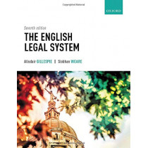 The English Legal System by Alisdair Gillespie, 9780198830900