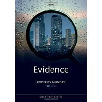 Evidence by Roderick Munday, 9780198832461