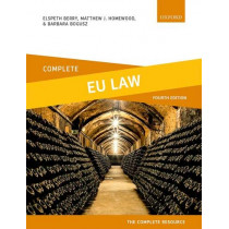 Complete EU Law: Text, Cases, and Materials by Elspeth Berry, 9780198836216