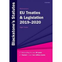 Blackstone's EU Treaties & Legislation 2019-2020 by Nigel Foster, 9780198838692
