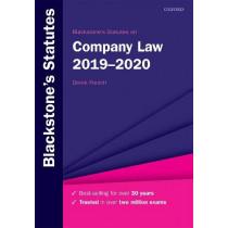 Blackstone's Statutes on Company Law 2019-2020 by Derek French, 9780198838708