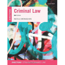 Criminal Law Directions by Nicola Monaghan, 9780198848783