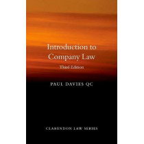 Introduction to Company Law by Paul Davies, 9780198854920