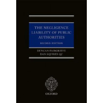 The Negligence Liability of Public Authorities by Cherie Booth, 9780199692552