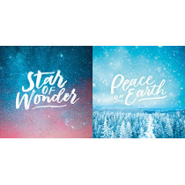 Festive Text 10-Pack Christmas Cards: Star of Wonder and Peace on Earth by Spck Spck, 9780281083091