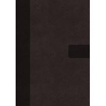 NIV, Super Giant Print Reference Bible, Leathersoft, Gray, Red Letter Edition, Comfort Print by Zondervan, 9780310445937