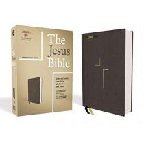 The Jesus Bible, ESV Edition, Cloth over Board, Gray by Zondervan, 9780310452201