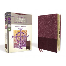 NRSV, Thinline Reference Bible, Large Print, Leathersoft, Burgundy, Thumb Indexed, Comfort Print by Zondervan, 9780310453314