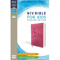 NIV, Bible for Kids, Leathersoft, Pink, Red Letter Edition, Comfort Print: Thinline Edition by Zonderkidz, 9780310764229