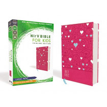 NIrV, Bible for Kids, Large Print, Leathersoft, Pink, Comfort Print: Thinline Edition by Zondervan, 9780310767541