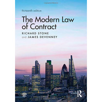 The Modern Law of Contract by Richard Stone, 9780367222918