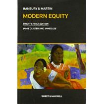 Hanbury & Martin: Modern Equity by Jamie Glister, 9780414060371