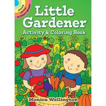 Little Gardener Activity & Coloring Book by Monica Wellington, 9780486833224