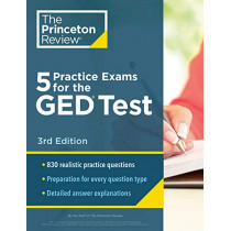 5 Practice Exams for the GED Test by The Princeton Review, 9780525569251