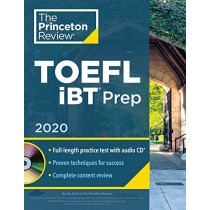 Princeton Review TOEFL iBT Prep with Audio CD, 2020 by Princeton Review, 9780525569275