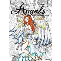 Angels: Adult Colouring Book by Elisabeth Maria Lackgren, 9780646990392