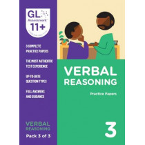 11+ Practice Papers Verbal Reasoning Pack 3 (Multiple Choice) by GL Assessment, 9780708727638