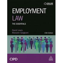 Employment Law: The Essentials by David Balaban Lewis, 9780749493141
