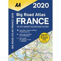 AA Big Road Atlas France 2020, 9780749581381