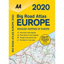 AA Big Road Atlas Europe 2020, 9780749581411