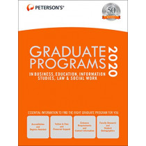 Graduate Programs in Business, Education, Information Studies, Law & Social Work 2020 by Peterson's, 9780768943214