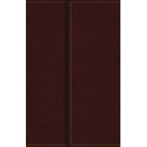 KJV, Reference Bible, Compact, Large Print, Snapflap Leather-Look, Burgundy, Red Letter Edition, Comfort Print: Holy Bible, King James Version by Thomas Nelson, 9780785215882