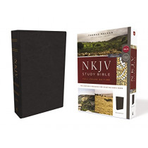 NKJV Study Bible, Leathersoft, Black, Full-Color, Comfort Print: The Complete Resource for Studying God's Word by Thomas Nelson, 9780785220633