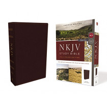 NKJV Study Bible, Bonded Leather, Burgundy, Full-Color, Comfort Print: The Complete Resource for Studying God's Word by Thomas Nelson, 9780785220664