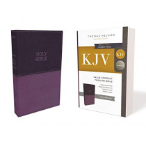 KJV, Value Thinline Bible, Compact, Leathersoft, Purple, Red Letter Edition, Comfort Print: Holy Bible, King James Version by Thomas Nelson, 9780785225850