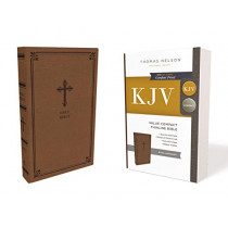 KJV, Value Thinline Bible, Compact, Leathersoft, Brown, Red Letter Edition, Comfort Print: Holy Bible, King James Version by Thomas Nelson, 9780785225874