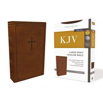 KJV, Thinline Bible, Large Print, Leathersoft, Brown, Red Letter Edition, Comfort Print: Holy Bible, King James Version by Thomas Nelson, 9780785225935