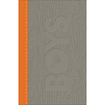 CSB Study Bible for Boys Charcoal/Orange, Wood Design LeatherTouch by Larry Richards, 9780801073601