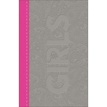 CSB Study Bible for Girls Pewter/Pink, Paisley Design LeatherTouch by Larry Richards, 9780801073915