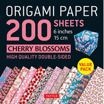 Origami Paper 200 sheets Cherry Blossoms 6 inch (15 cm): High-Quality Origami Sheets Printed with 12 Different Colors: Instructions for 8 Projects Included by Tuttle Publishing, 9780804850315