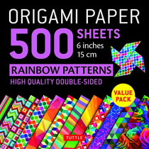 Origami Paper 500 sheets Rainbow Patterns 6 inch (15 cm) by Tuttle Publishing, 9780804851459